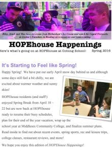 HOPEhouse Happenings Spring 2016