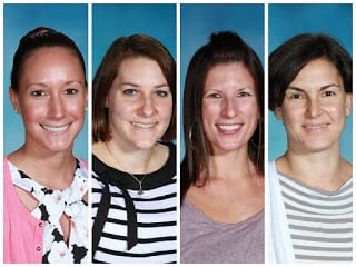 These four members of the Cotting teaching faculty dedicated their summer to developing literacy curriculum for students at Cotting with complex communication disorders.