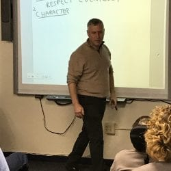 Author Michael Levin teaching a class at Cotting School