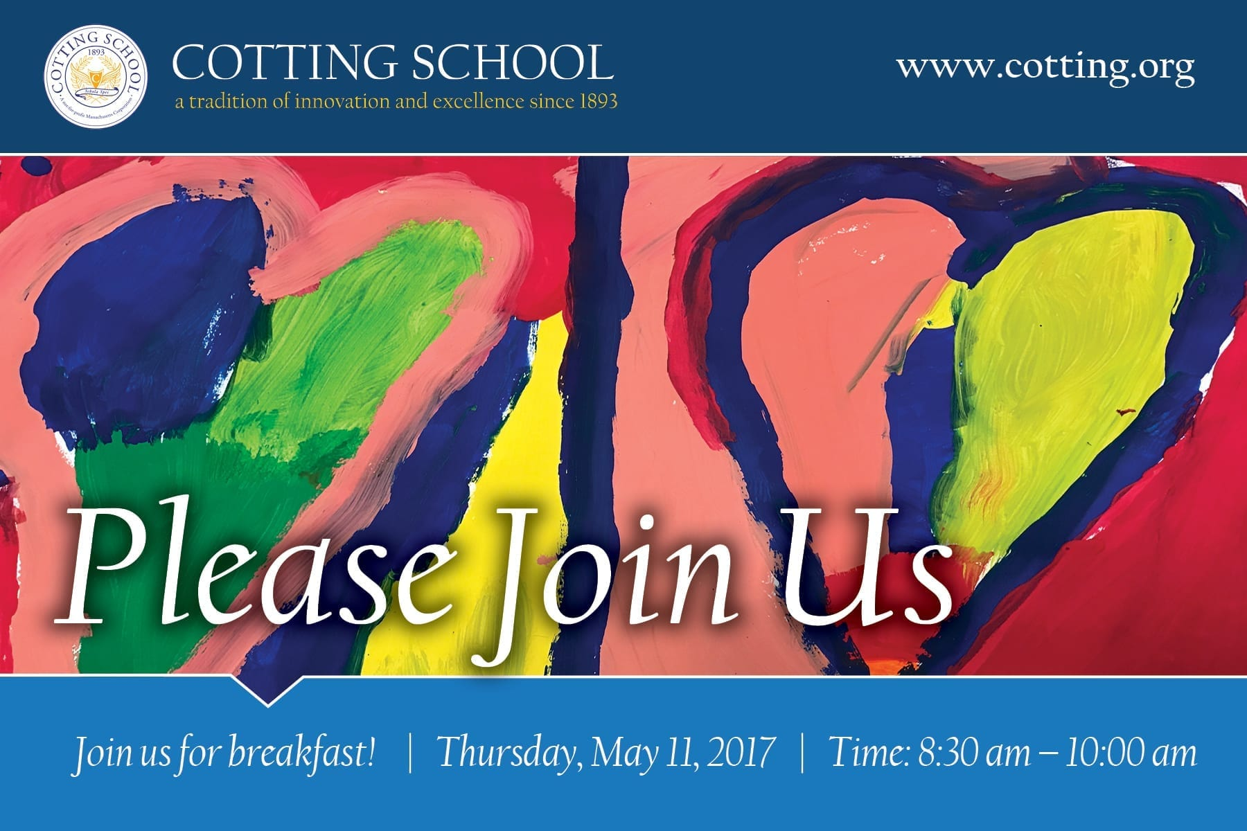 Please join us! Breakfast for professionals on Thursday, May 11, 2017