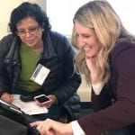 Seminar attendees learn Apple adaptive technology during a recent seminar.