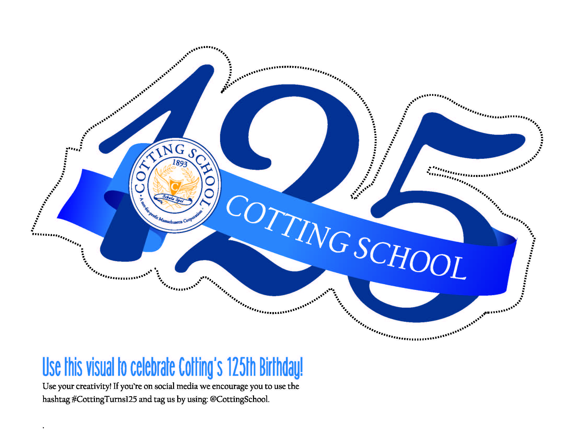 Cotting School 125th Anniversary Logo