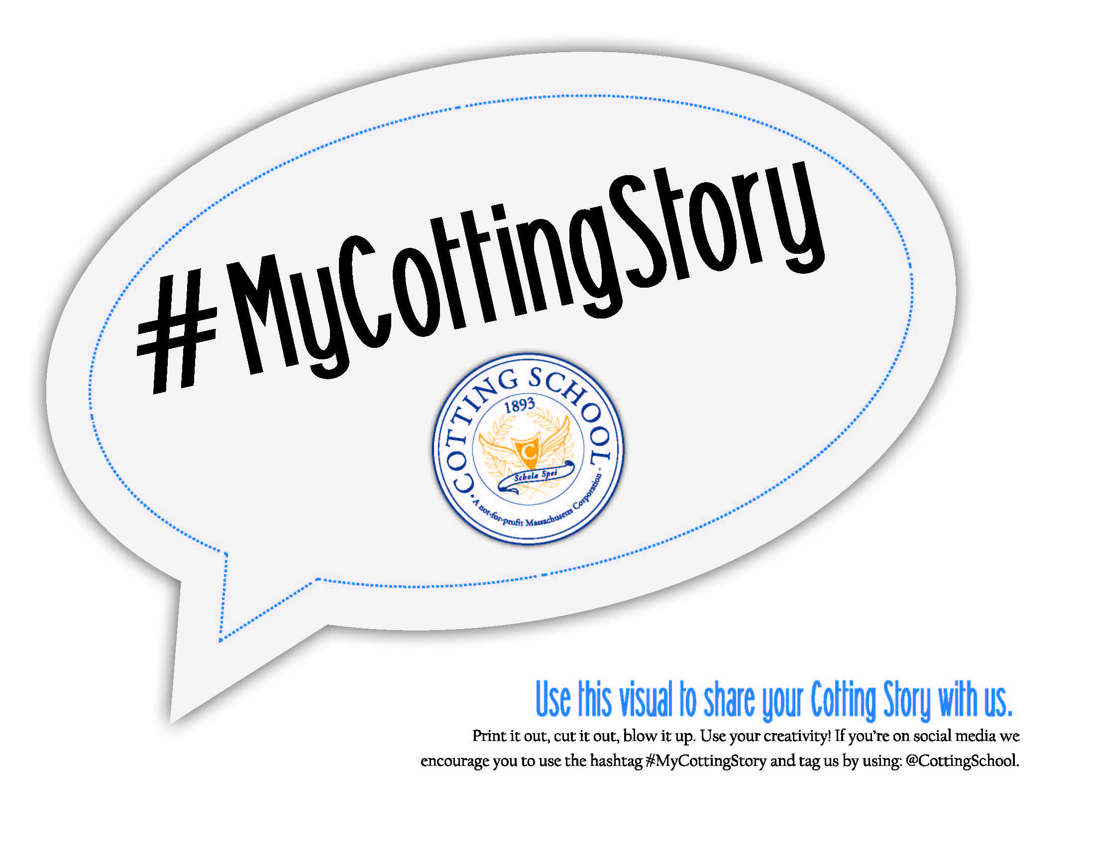Logo with hashtag that says My Cotting Story