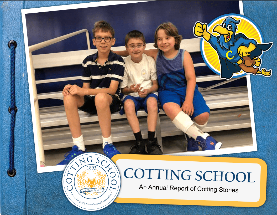 Cotting School 2018 Annual Report Cover