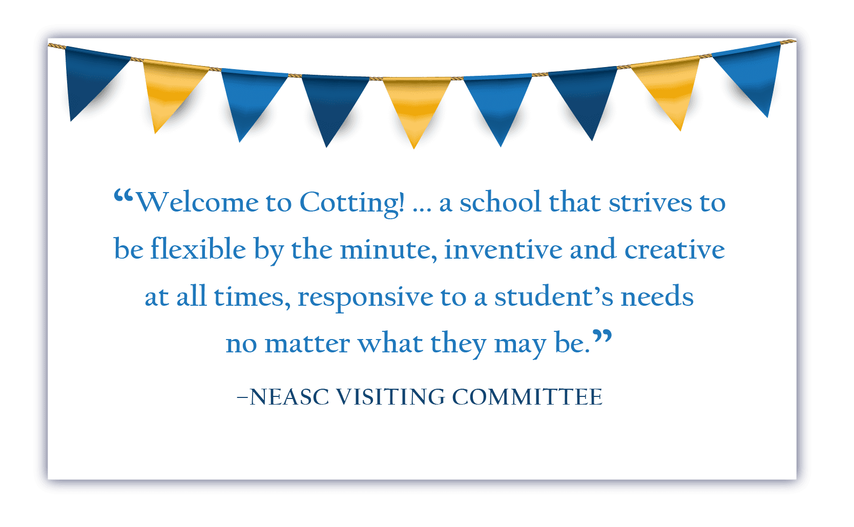 NEASC Visiting Committee Quote